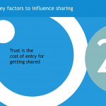 Key factors to influence sharing: Trust