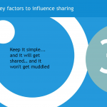 Key factors to influence sharing: Keep it simple
