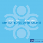 Why do people share online?